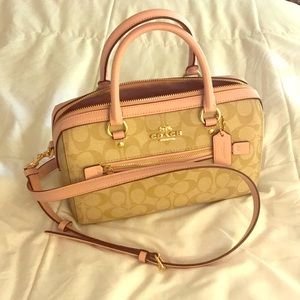 Coach Satchel in Signature Canvas - nearly new